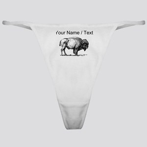 Custom Bison Sketch Classic Thong