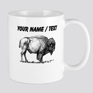Custom Bison Sketch Mugs