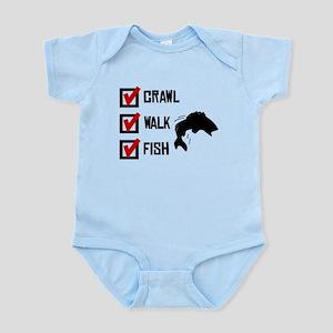 Crawl Walk Fish Body Suit