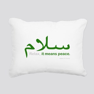 Relax It Means Peace | Rectangular Canvas Pillow