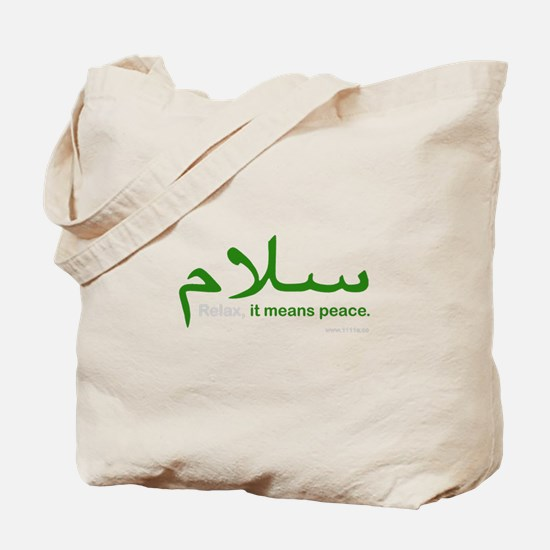 Relax It Means Peace | Tote Bag
