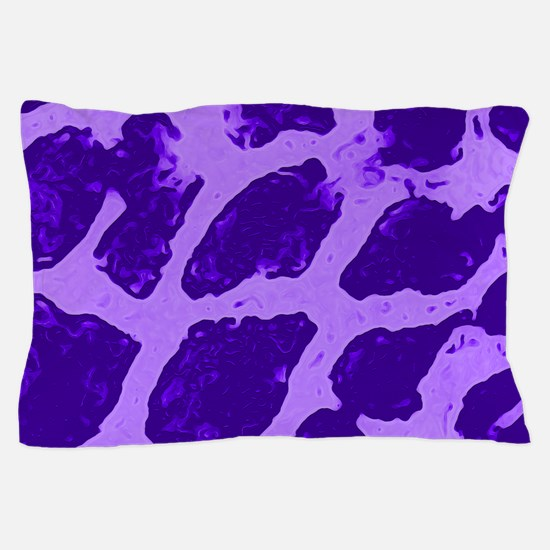 Giraffe Print Girly Purple Pillow Case