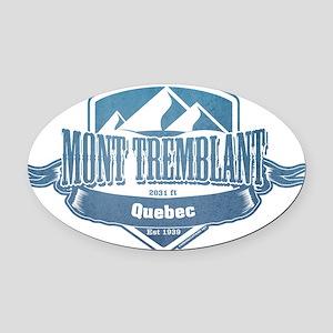 Mont Tremblant Quebec Ski Resort 1 Oval Car Magnet
