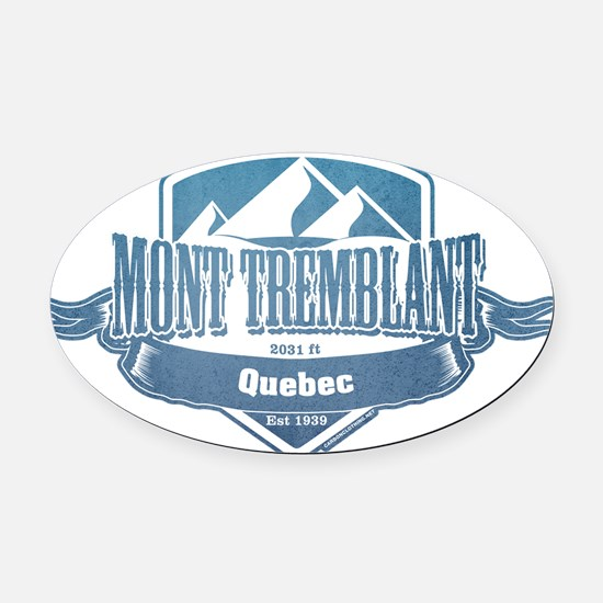 Mont Tremblant Quebec Ski Resort 1 Oval Car Magnet