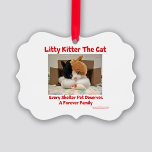 Litty Kitter - Shelter Pet Picture Ornament