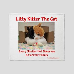Litty Kitter - Shelter Pet Throw Blanket