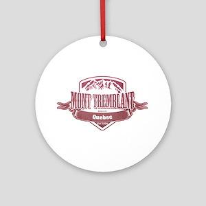 Mont Tremblant Quebec Ski Resort 2 Ornament (Round