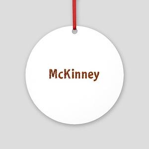 McKinney Fall Leaves Round Ornament