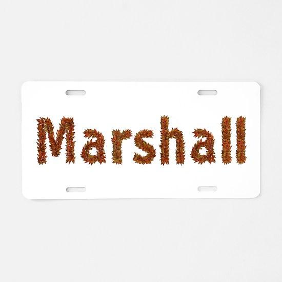 Marshall Fall Leaves Aluminum License Plate