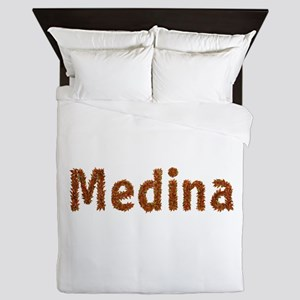 Medina Fall Leaves Queen Duvet