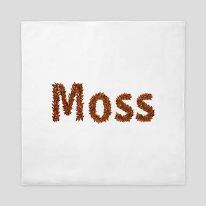 Moss Fall Leaves Queen Duvet