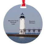 Manistee North Breakwater Light Round Ornament