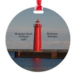 Muskegon South Pierhead Round Ornament