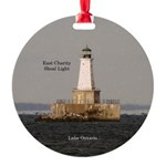 East Charity Shoal Light Round Ornament