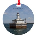 14 Foot Shoal Light Round Ornament