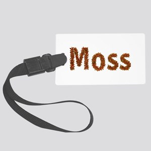 Moss Fall Leaves Large Luggage Tag