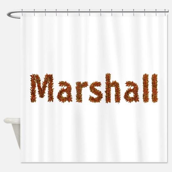 Marshall Fall Leaves Shower Curtain