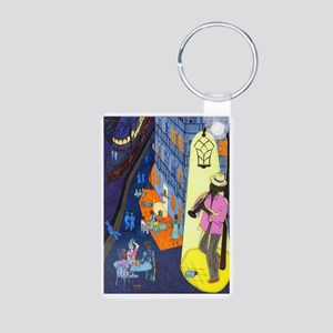 New Orleans, here music is Aluminum Photo Keychain