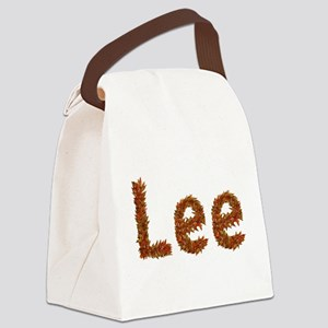 Lee Fall Leaves Canvas Lunch Bag