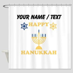 Custom Happy Hanukkah Shower Curtain