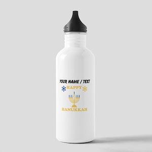 Custom Happy Hanukkah Sports Water Bottle