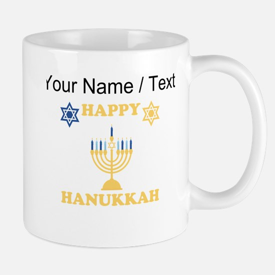 Custom Happy Hanukkah Mugs