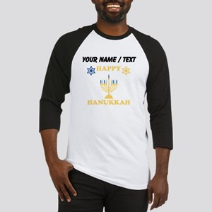 Custom Happy Hanukkah Baseball Jersey