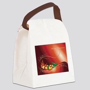Christmas background Canvas Lunch Bag
