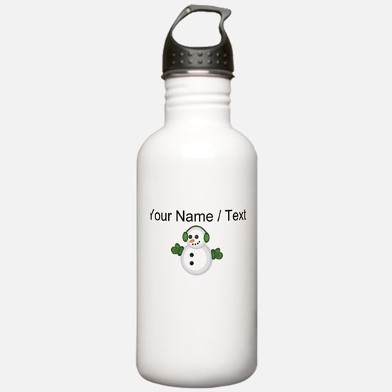 Custom Christmas Snowman Sports Water Bottle