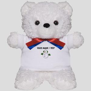 Custom Christmas Snowman Teddy Bear