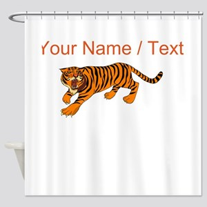 Custom Bengal Tiger Shower Curtain