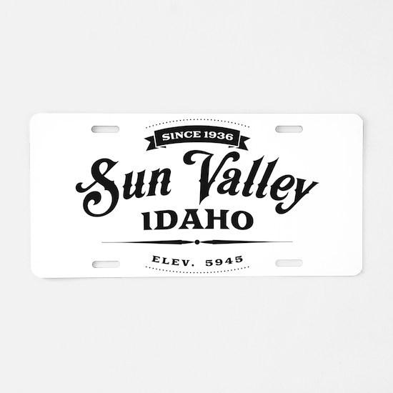 Sun Valley Vintage 2 Black Aluminum License Plate