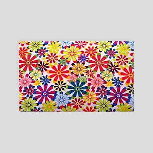 Hippie Flowers 3'x5' Area Rug