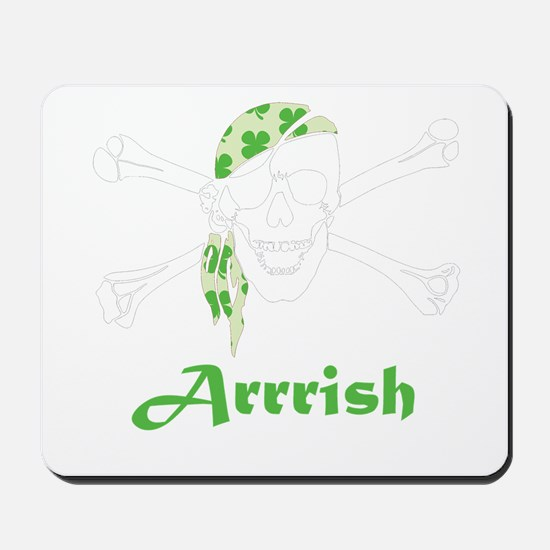 Arrish Irish Pirate Skull And Crossbones Mousepad