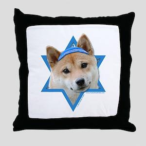 Hanukkah Star of David - Shiba Inu Throw Pillow