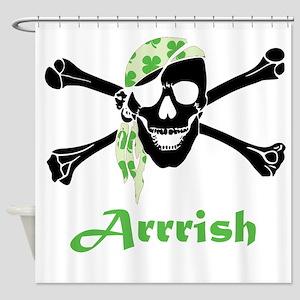 Arrish Irish Pirate Skull And Crossbones Shower Cu