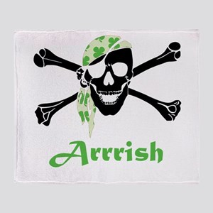 Arrish Irish Pirate Skull And Crossbones Throw Bla