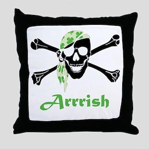 Arrish Irish Pirate Skull And Crossbones Throw Pil