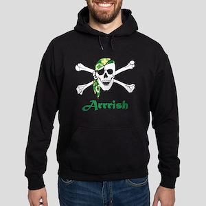 Arrish Irish Pirate Skull And Crossbones Hoodie