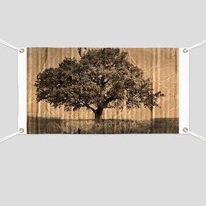 vintage oak tree modern decor Banner