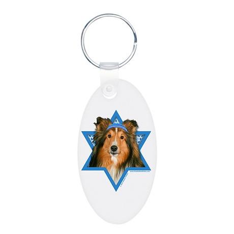 Hanukkah Star of David - Sheltie Aluminum Oval Key