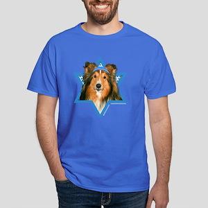 Hanukkah Star of David - Sheltie Dark T-Shirt