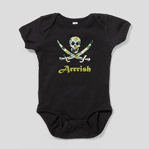 Arrish Irish Pirate Calico Jack Skull Baby Bodysui