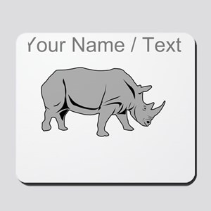 Custom Grey Rhino Mousepad