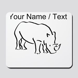 Custom Rhinoceros Drawing Mousepad