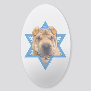 Hanukkah Star of David - Shar Pei Sticker (Oval)