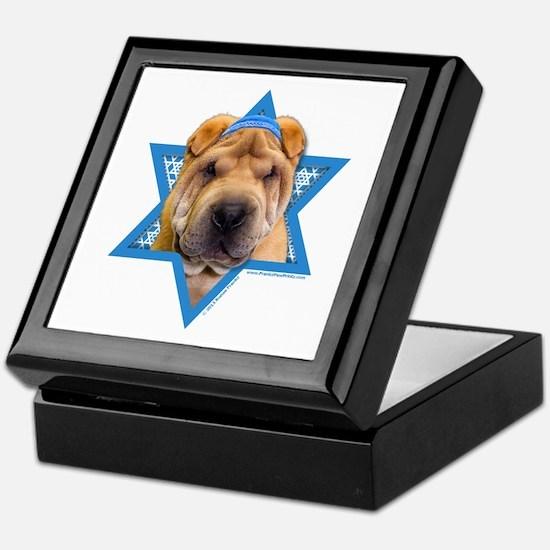 Hanukkah Star of David - Shar Pei Keepsake Box