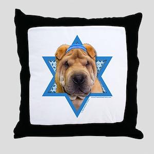 Hanukkah Star of David - Shar Pei Throw Pillow