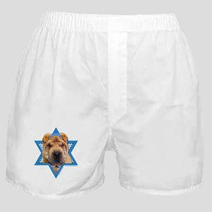 Hanukkah Star of David - Shar Pei Boxer Shorts