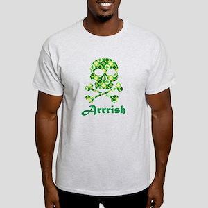 Arrish Irish Pirate Shamrock Skull T-Shirt